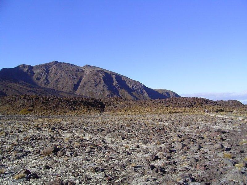 Lava flats below Devil's Staircase, Mangatepopo Stream.