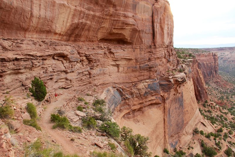The Monument Canyon Trail below the wall.