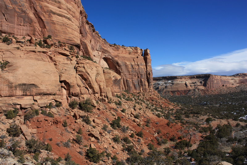 Looking down Monument Canyon. with permission from Hobbes7714 Photo Credit: Andrew Wahr  Link: https://twitter.com/WahrAndrew