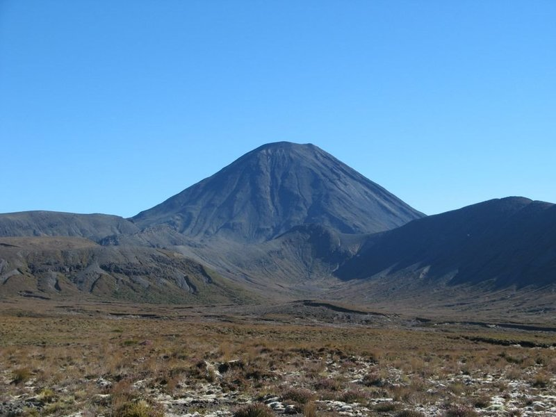 "View of ""Mt Doom"" (Ngauruhoe) along Waihohonu / Tama Saddle Track"