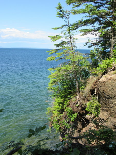 Lake Superior from the bluffs along the East Huginnin Cove Trail.