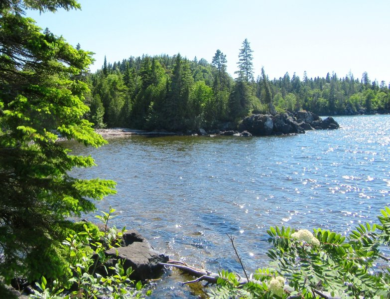 Huginnin Cove from the East Huginnin Cove Trail.
