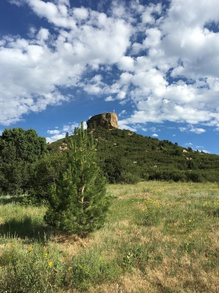 View of Castle Rock from the trailhead.