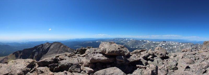 Summit of Longs Peak looking south.