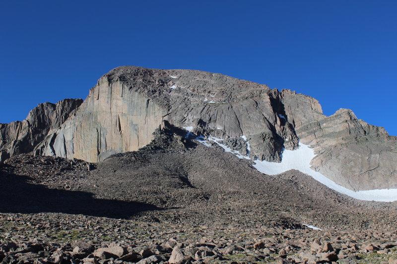 View of Longs Peak from the Boulderfield.