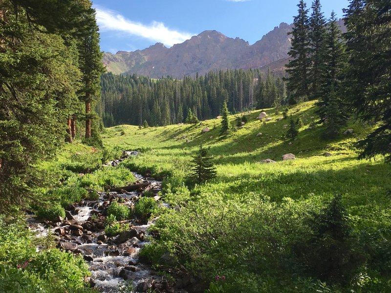 The Gore range behind Deluge Creek.