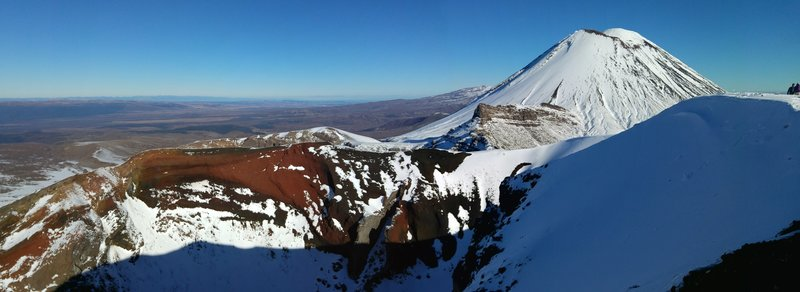 The Red Crater and Mt Ngauruhoe.