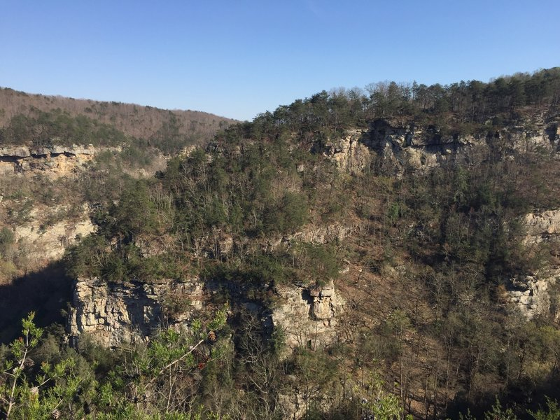 The remarkable Cloudland Canyon in Winter from one of the numerous overlooks on the West Rim Trail.