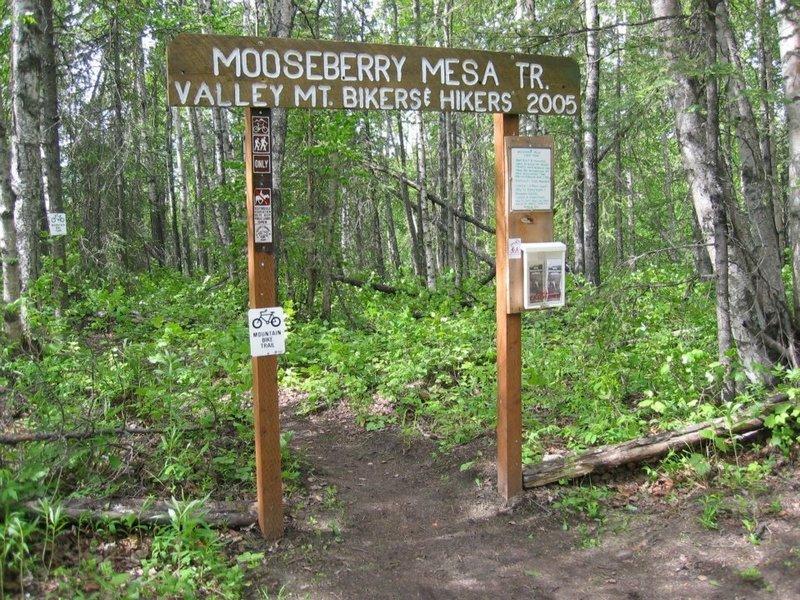 Main entrance to Mooseberry Mesa.