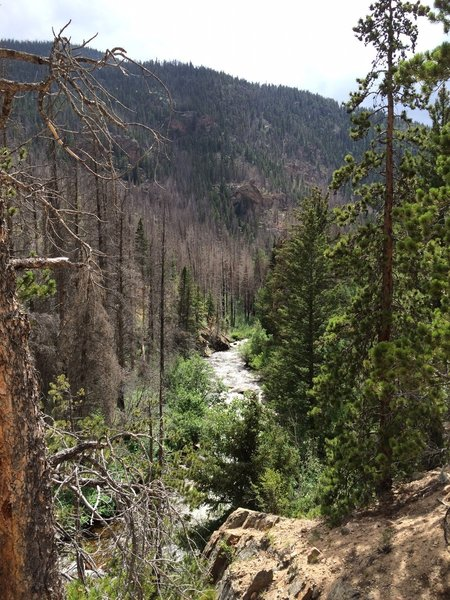 Great view of the Big Thompson River.