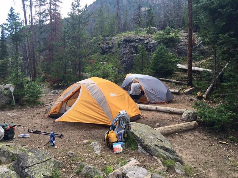 Twinberry campsite. First night on North Inlet Trail - doing the 30 mile loop.