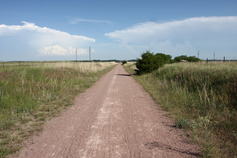 Cowboy Trail looking East from Valentine, Neb.