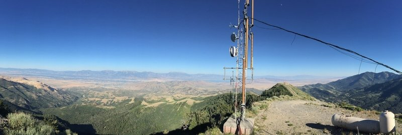 Panorama from summit of Salt Lake Valley.