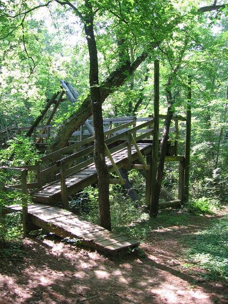 Nice footbridge, on Etowah Trail