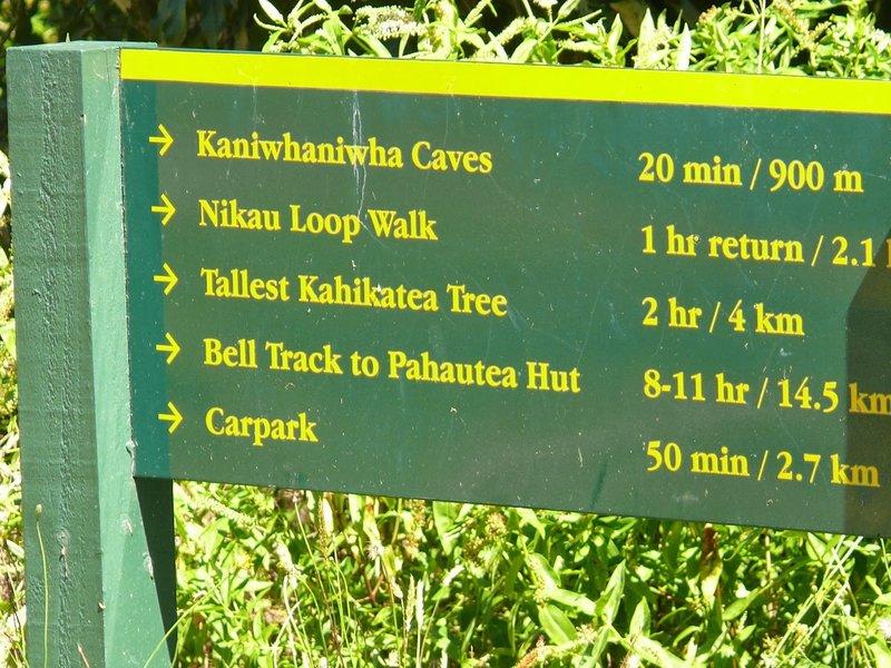 Signage (walking times)