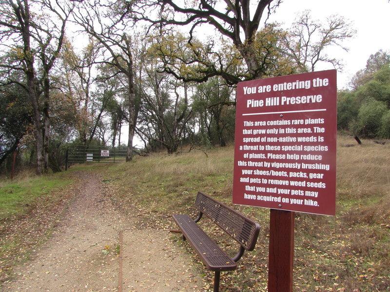 Pine Hill Preserve sign.