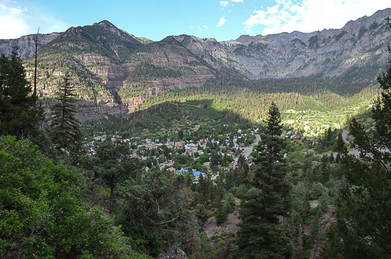 From Perimeter Trail, overlooking Ouray.