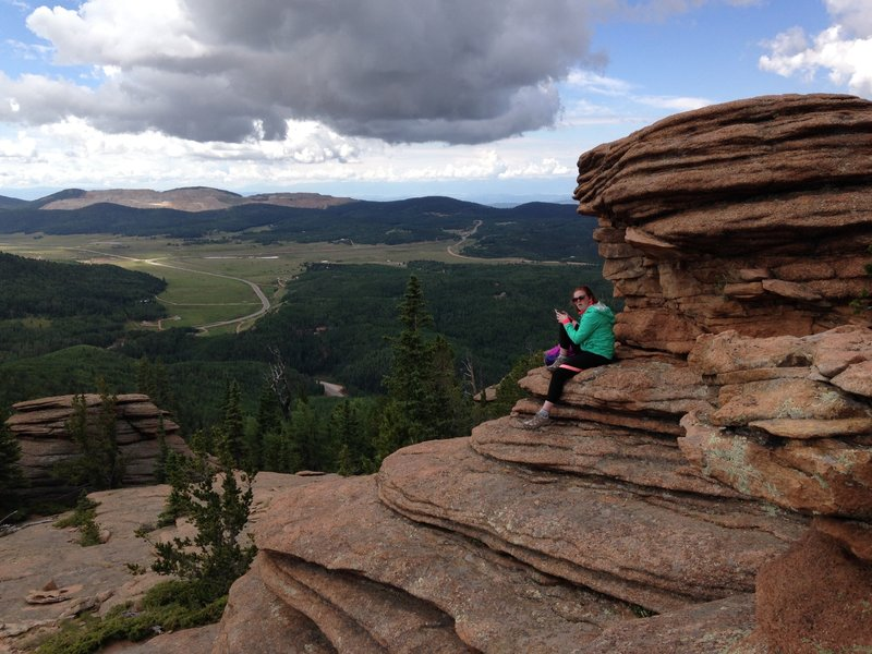 Pancake Rocks trail overlooking Cripple Creek Highway