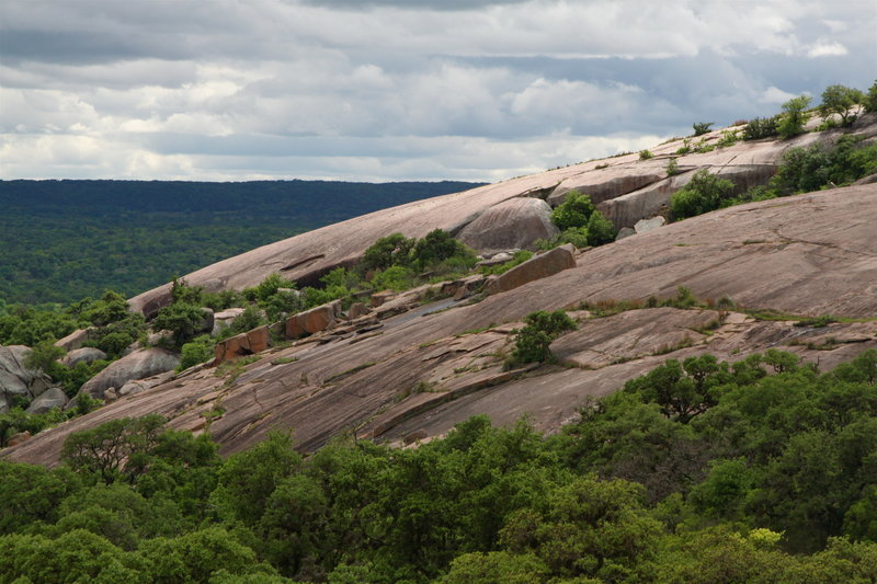 Sloping flanks of Enchanted Rock