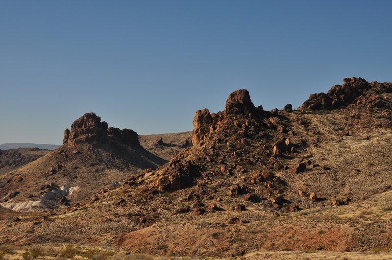 Along the Mule Ears Trail.