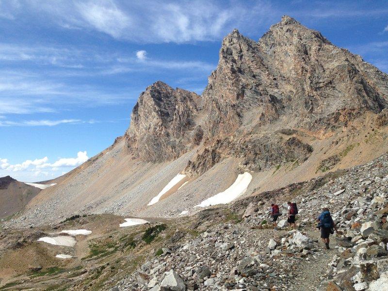 Traversing below Static Peak on the Static Peak Divide.