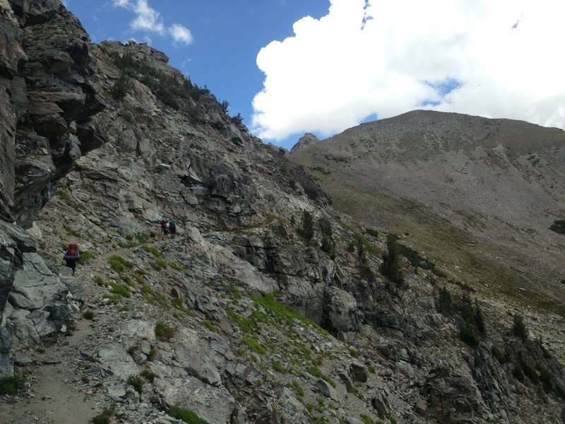 The traverse as it ascends to Static Peak.