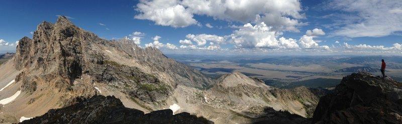 Panorama from top of Static Peak toward Buck Mountain.