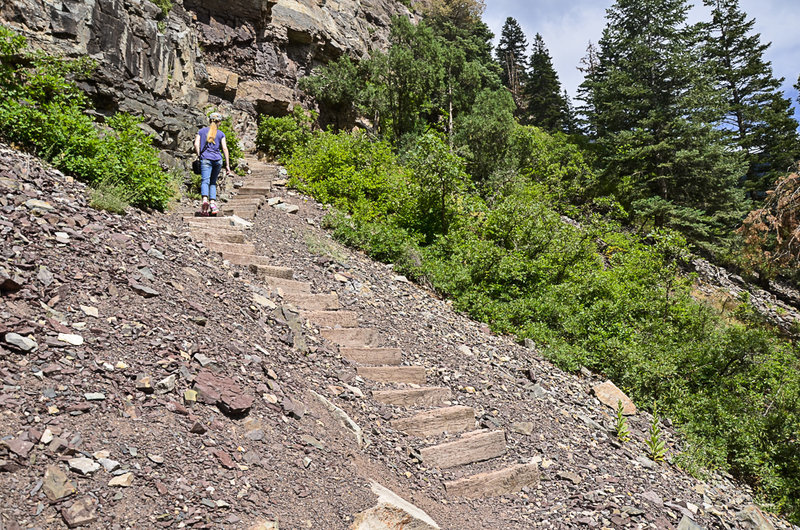 One of the steep sections on Ouray Perimeter Trail.