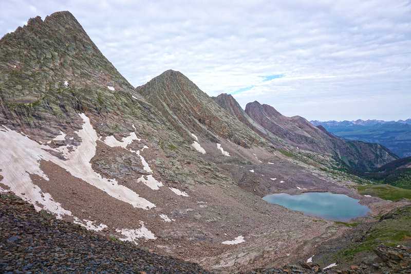 The Grenadiers, from Trinity Pass.
