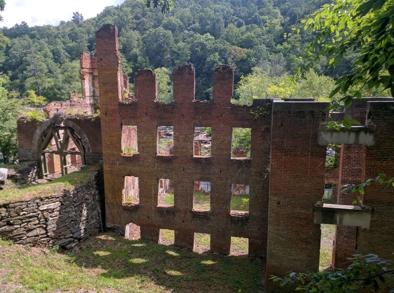 The old ruined mill of Sweetwater Creek State Park. Located halfway through the Red Trail.