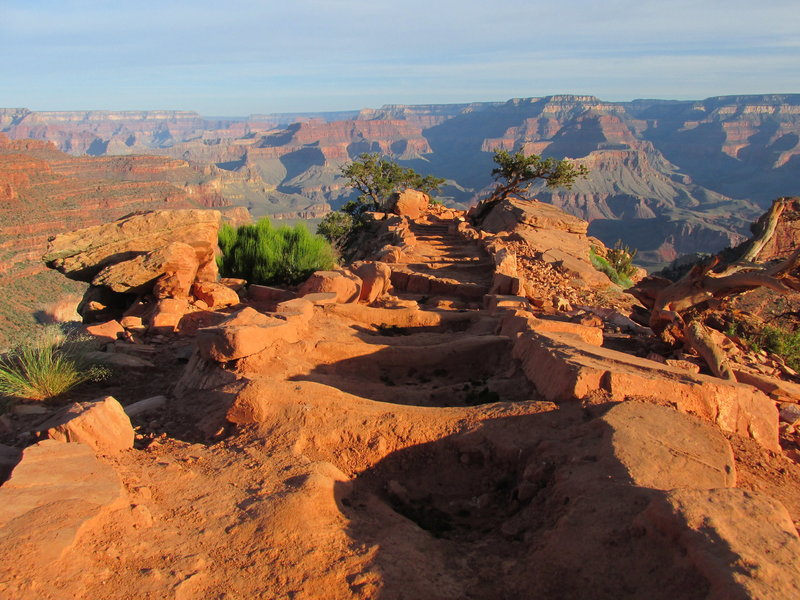 South Kaibab Trail, early morning.