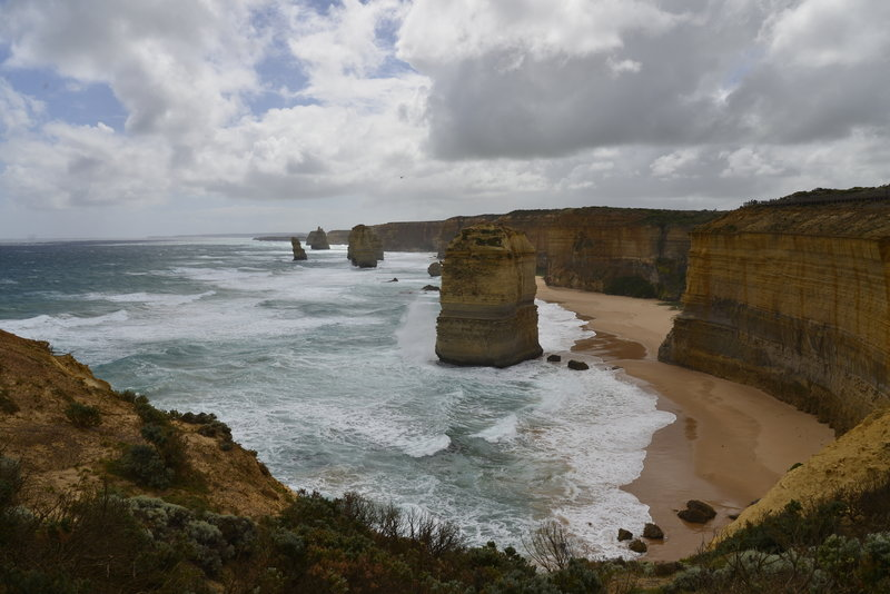 View of the Twelve Apostles heading out to the point.