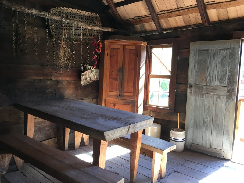A peek into the humble housing preserved at the Mountain Farm Museum.