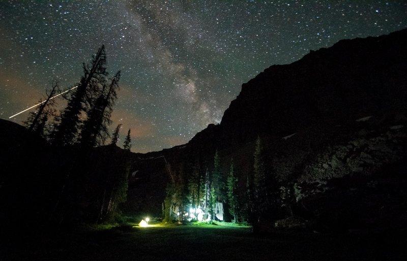 Milky way over my camp at Ibanitk Lake.