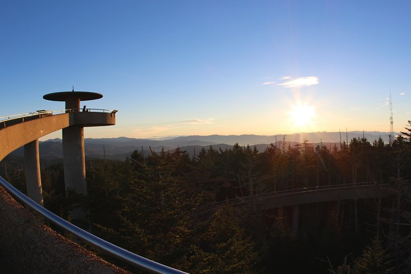 Heading to Clingmans Dome Observation Tower.