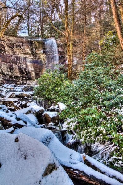 Great Smoky Mountains National Park - Rainbow Falls.