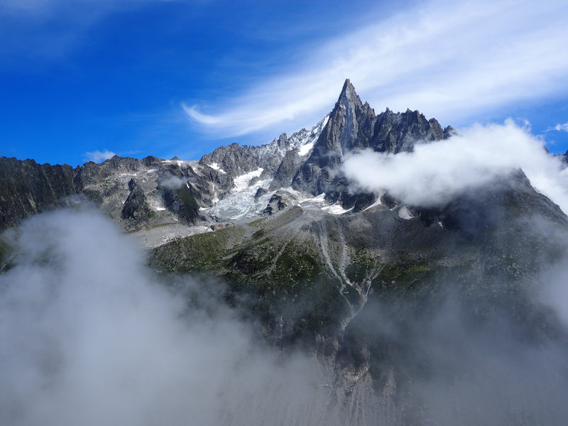 Aiguille du Dru taken from above Montenvers, Chamonix, France