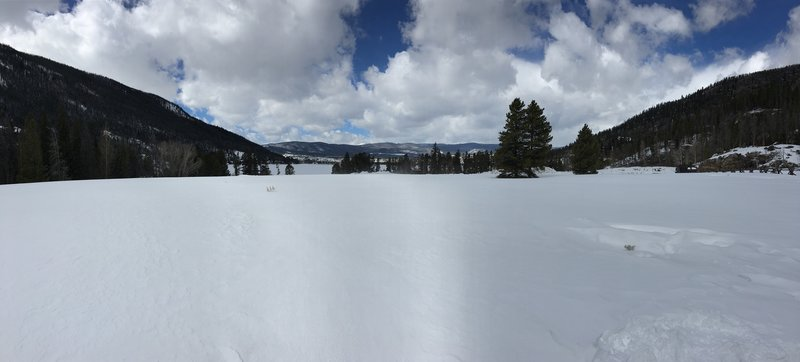 Start of East Inlet Trail RMNP 3/16.