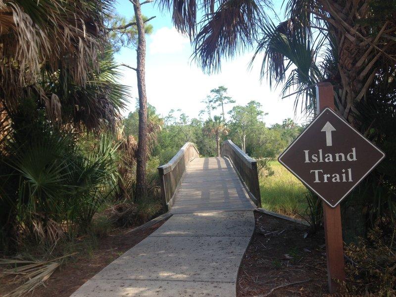 The Castaway Island Trail starts here.