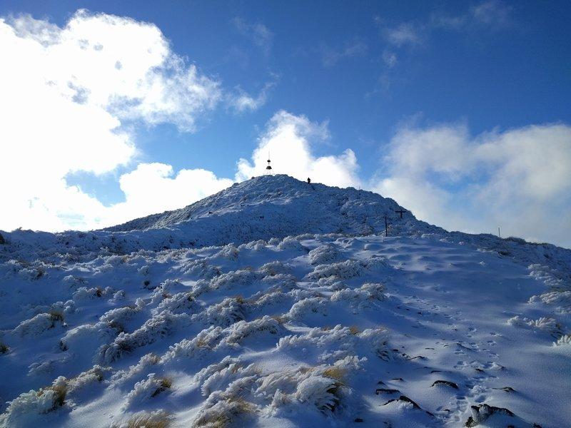 Early pre-season snow near Holdsworth summit.