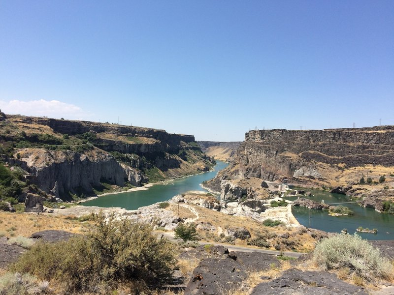 Over looking Shoshone Falls and the Snake River.