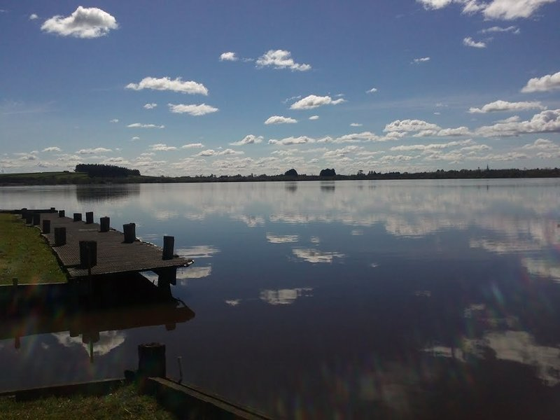 Lake front at the Lake Ngaroto Car Park.
