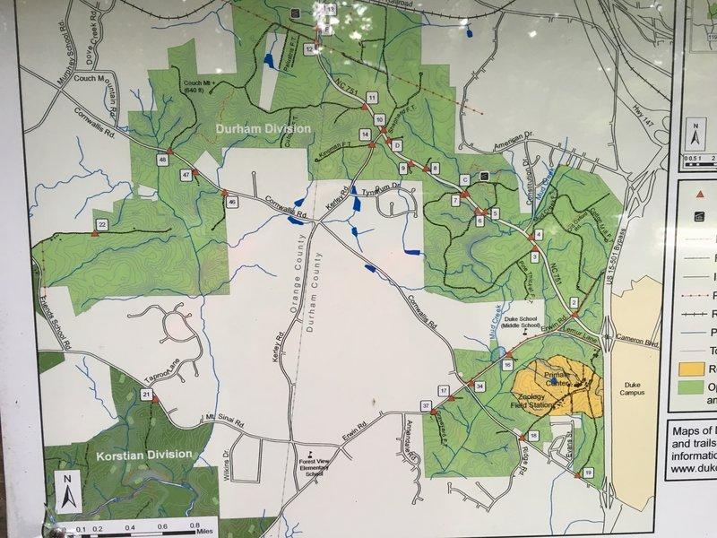 Trail map located at trailhead.