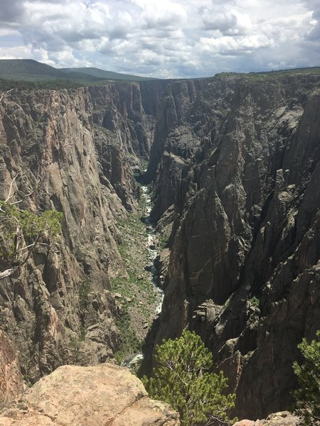 One of the many views of the Black Canyon. This shot taken at Exclamation Point.