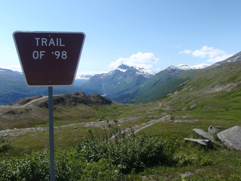 This is the upper trailhead of the Trail of '98.