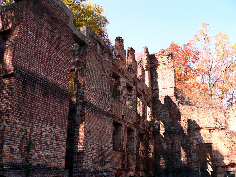 Mill ruins.