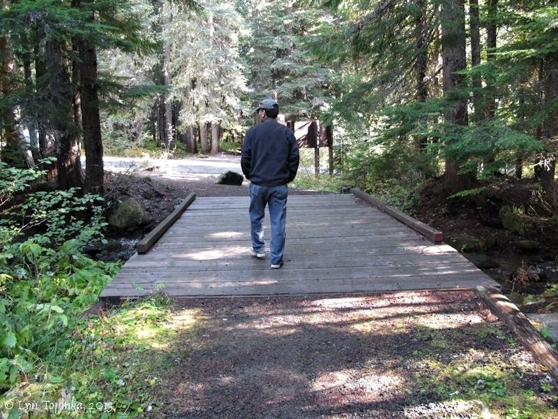 Bridge along Barlow Trail approaching Still Creek Campground.  Photo by Lyn Topinka