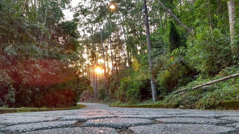 Estrada para o Parque da Cidade de Niterói - Road to the Niterói City Park