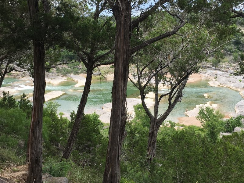 Pedernales Falls from the scenic outlook.
