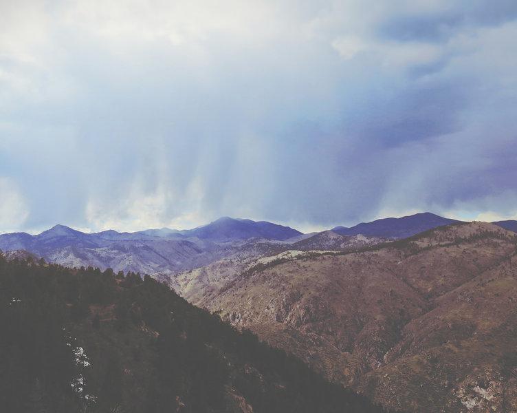 Looking west.
